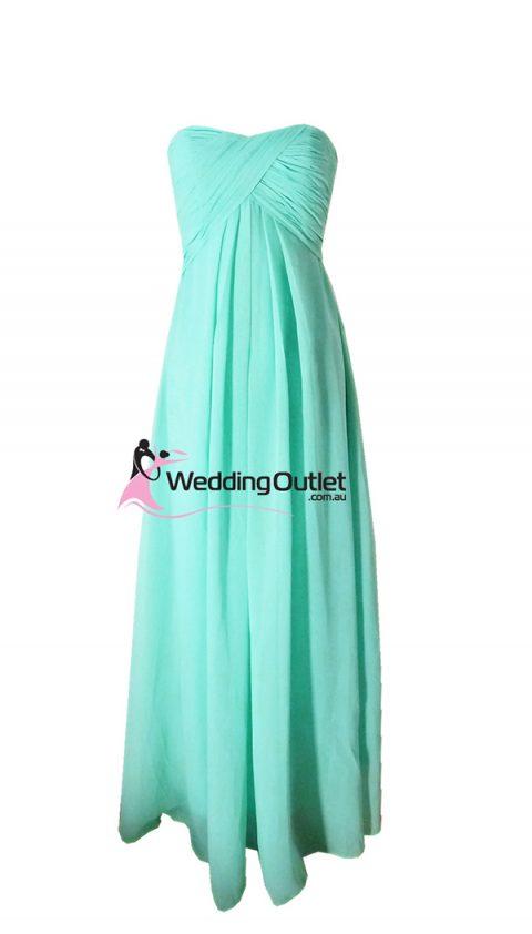 Aqua Strapless Bridesmaid Dress Style #N101