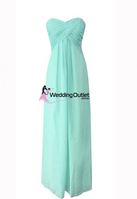 Aqua Strapless Bridesmaid Dress Style #R101
