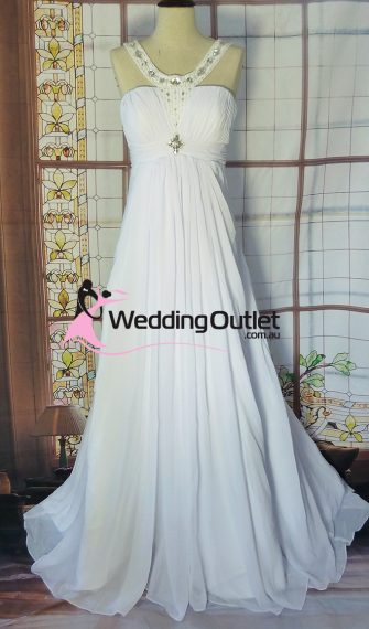 Ashlie Simple Wedding Dress Sleeved