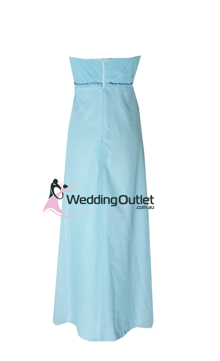 Baby Blue Strapless Bridesmaid Dress Style D101