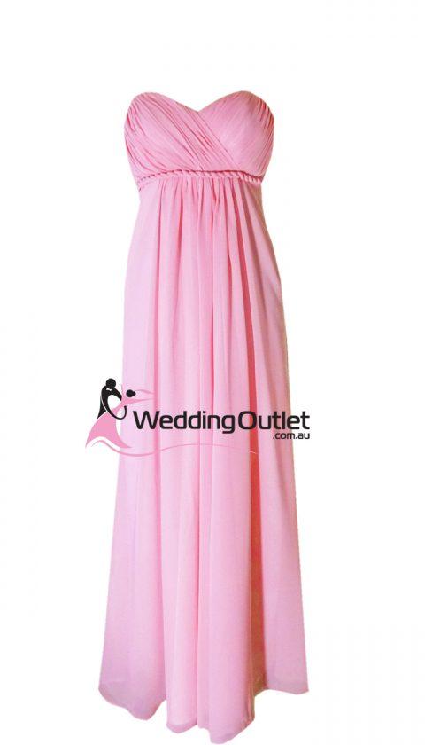 Summer pink sweet heart bridesmaid dress Style #D101