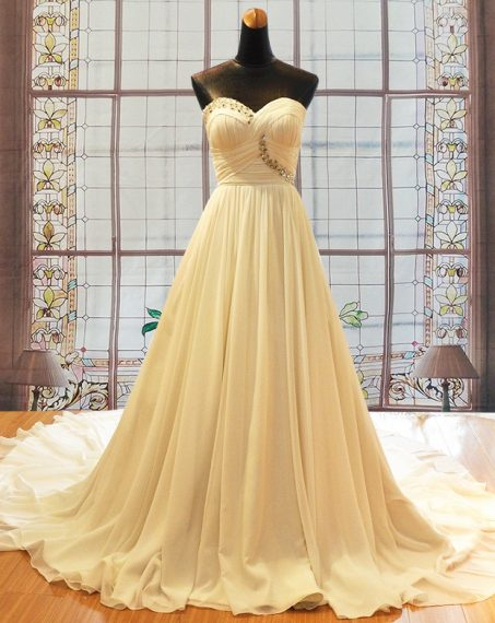 Jenna chiffon wedding gown