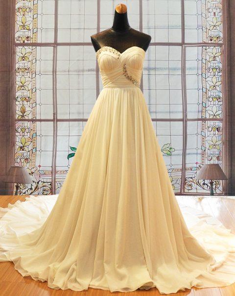 Jenna chiffon wedding gown