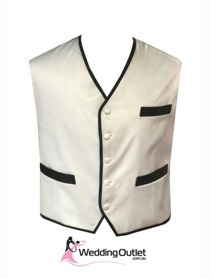 Black and White Men Vest