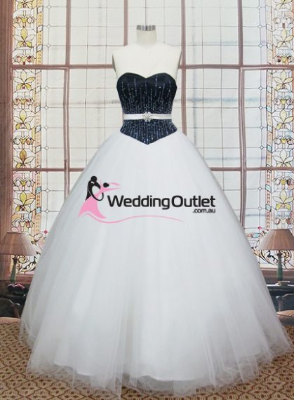 Ruth Black and White Princess Dress