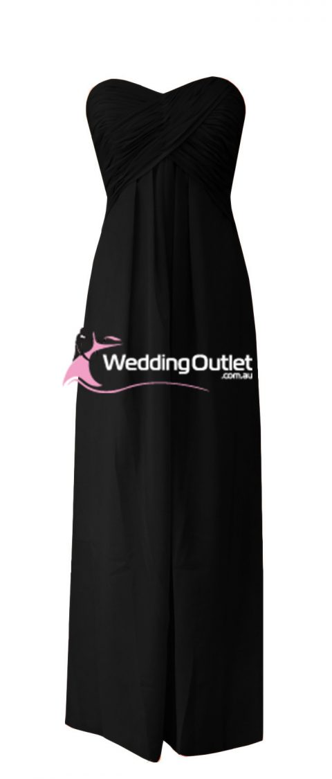 Black Strapless Bridesmaid Dresses Style #R101