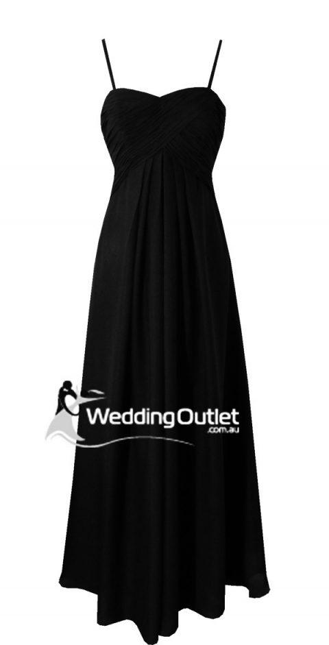 Black sleeved bridesmaid dresses style #K101