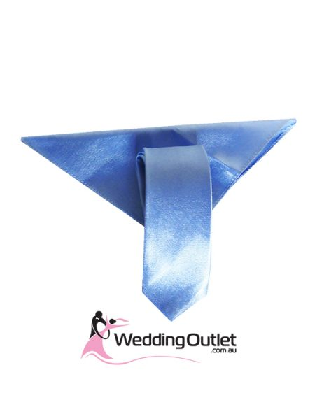 Mens Colour Matched Long Ties and handkerchiefs