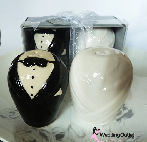 Bride and Groom Salt and Pepper Shakers Wedding