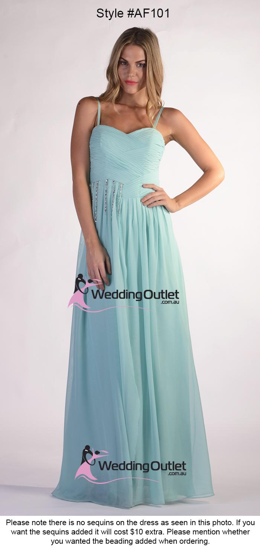 Dusty Blue Bridesmaid Dresses Style Af101 Weddingoutlet