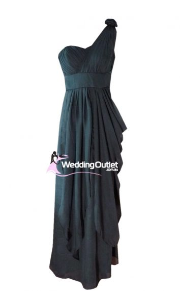 Charcoal Grey Bridesmaid Dress Style #C101