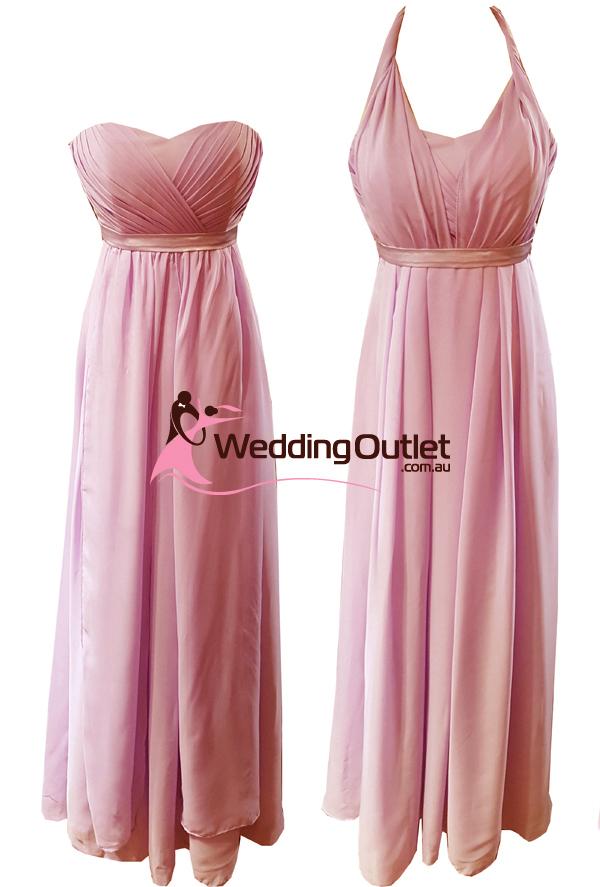 Dusty Pink Convertible Wrap Dress Style Uu101