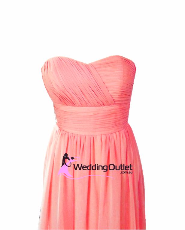 Coral Pink Bridesmaid Dresses Style #O101