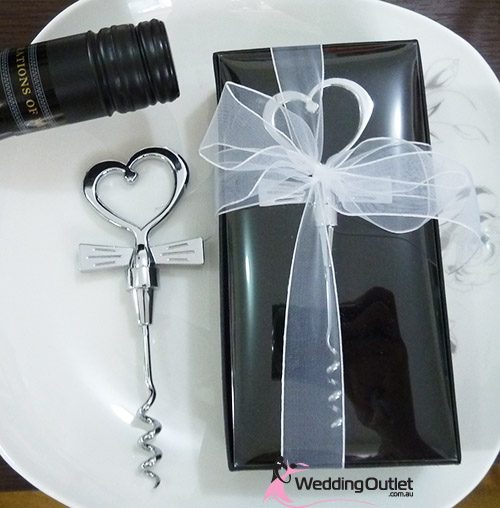 Cork Screw Heart Top Wedding Favours