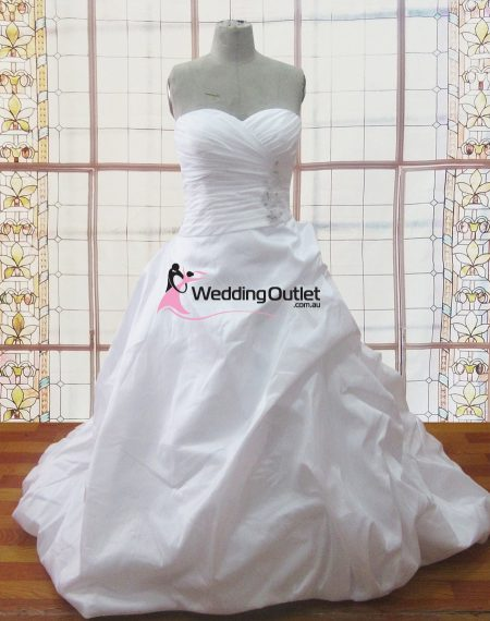 Rochelle ruffle sweet heart wedding dresses