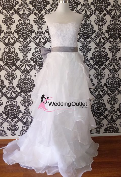 Danielle ruffle wedding dress (fl-27)