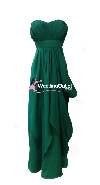 Emerald Green Strapless Bridesmaid Dresses Style #W101