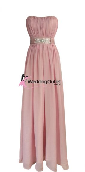 Dusty Pink Strapless Bridesmaid Dresses Style #V101