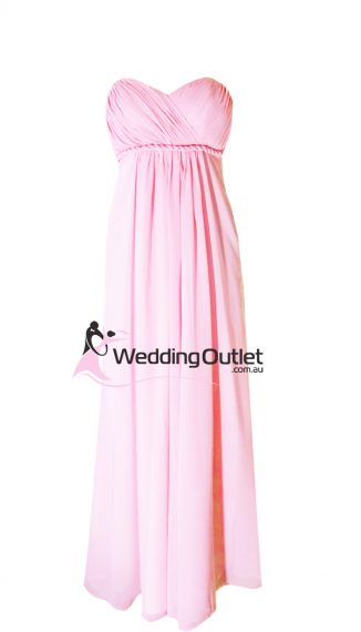 Baby Pink Bridesmaid Dresses Style #D101