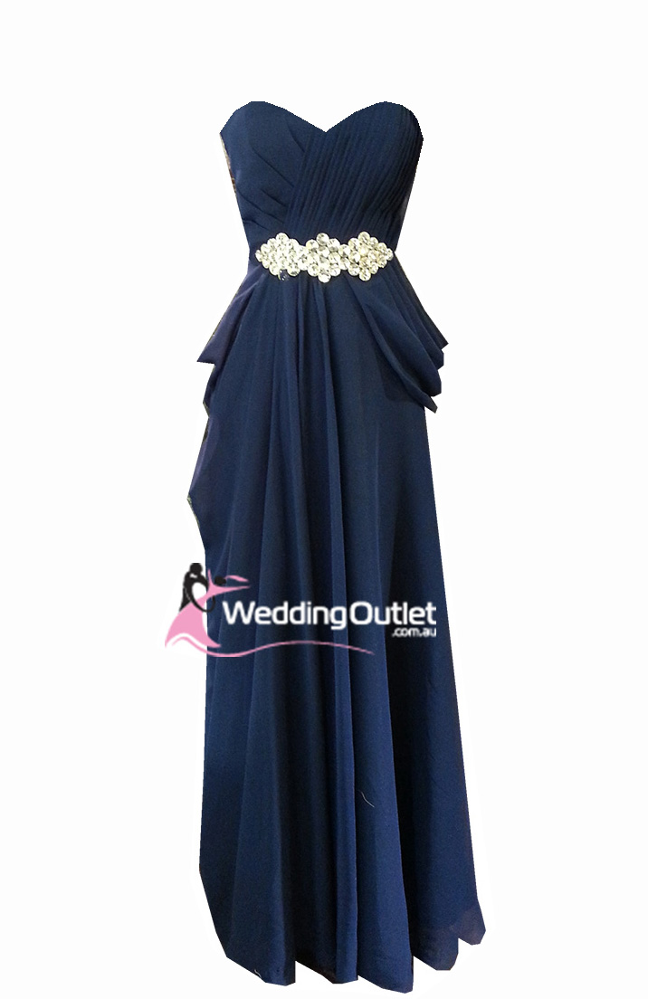 Midnight blue evening gown and bridesmaid dress Style # ...