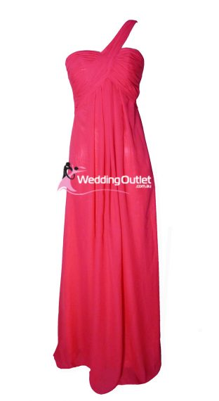 Hot Pink Bridesmaid Dresses Style #F101