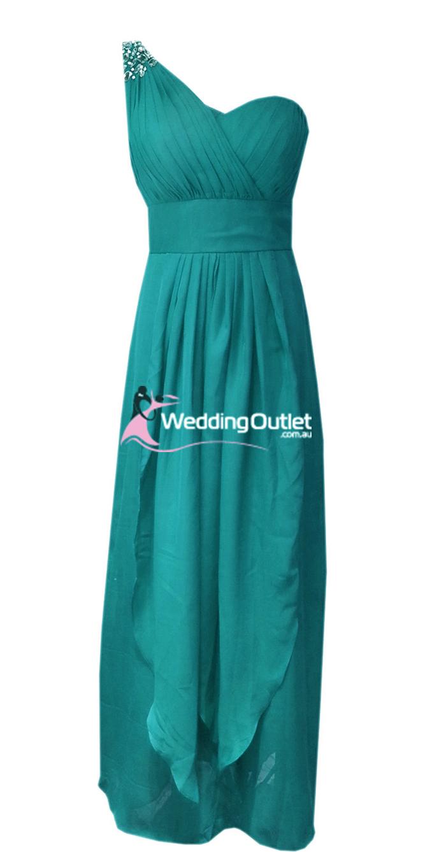 Teal Bridesmaid Dress   Jade Green Bridesmaid Dresses Style C104 Weddingoutlet Com Au