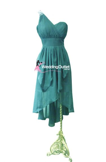 Jade Green High Low Bridesmaid Dress Style #AM101