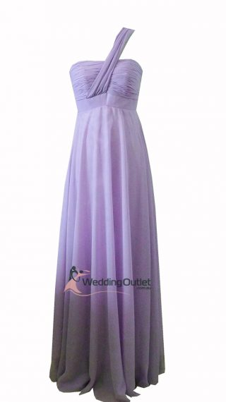Lavender Purple Bridesmaid dress one shoulder Style #B9190