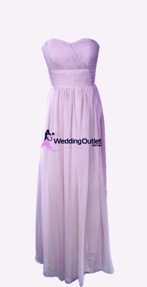Lilac Purple Strapless Bridesmaid Dresses Style #O101