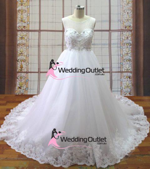 Mia empire line lace wedding dress