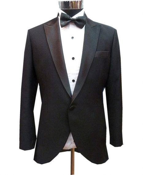 Black Suit for Groomsmen or Groom Stylish Longish Back