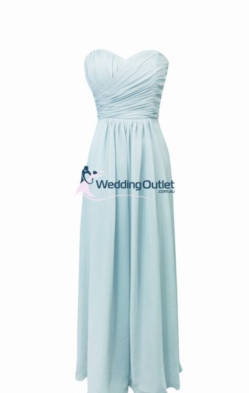 Misty Blue Bridesmaid Dresses Style #AB101