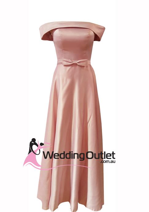 41f6a0a7b1e3 Dusty Pink Off Shoulders Satin Evening Dress Style  BC101 -  WeddingOutlet.com.au