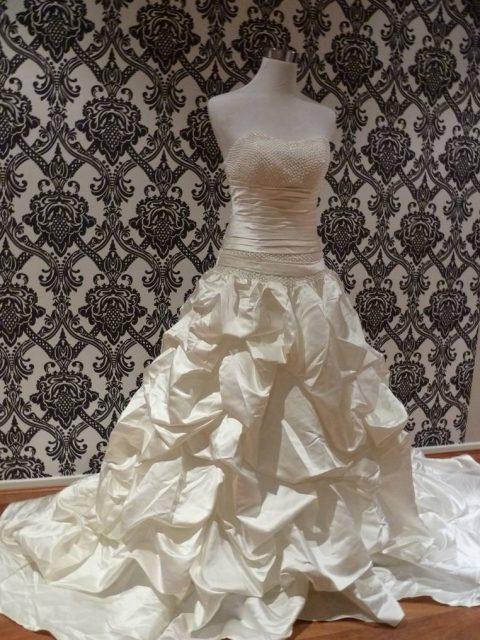 Elizabeth ruffle wedding gown fl-816