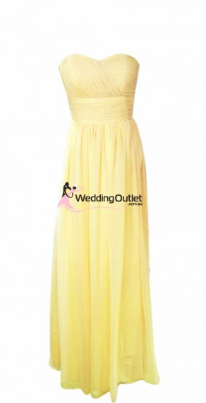 Pale Yellow Bridesmaid Dress Style #O101