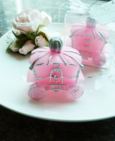 Pink Carriage Candle Wedding Gifts