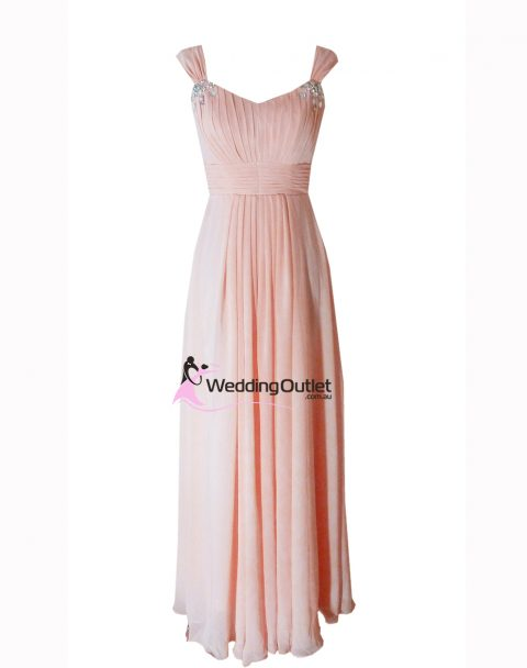 Dusty Rose Cap Sleeve Bridesmaid Dresses Style #A1029