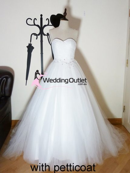 Frances Princess wedding dress sa-9