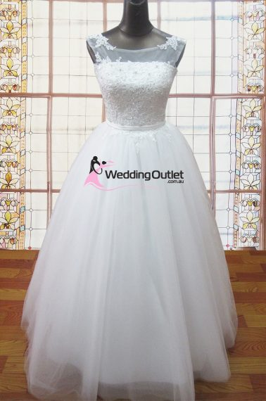 Stephanie princess wedding gown