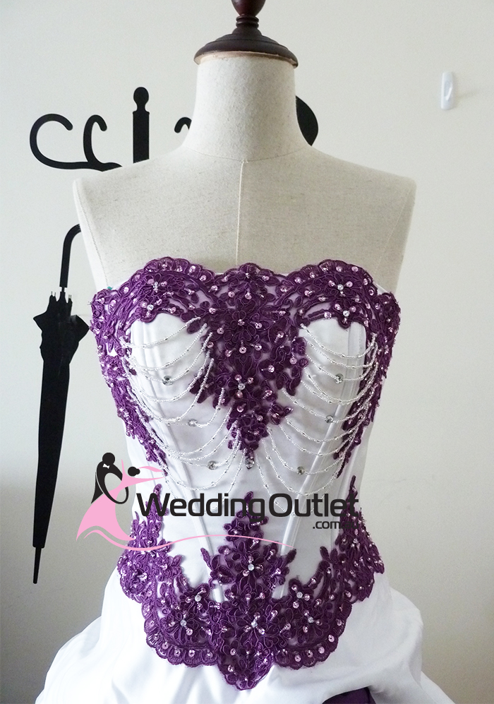 Scarlett purple and white wedding dress for White wedding dress with lavender