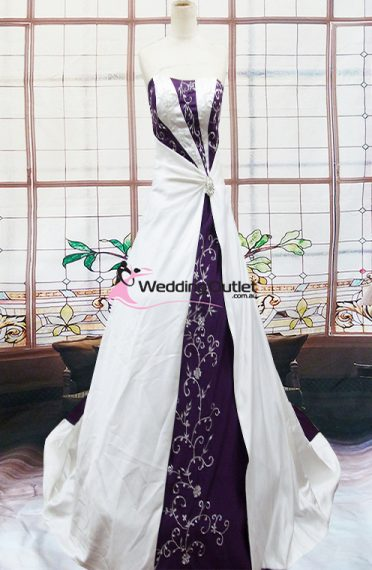 Emily Purple And White Wedding Dress