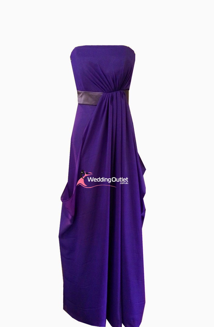 Amethyst Purple Strapless Bridesmaid Dress And Evening