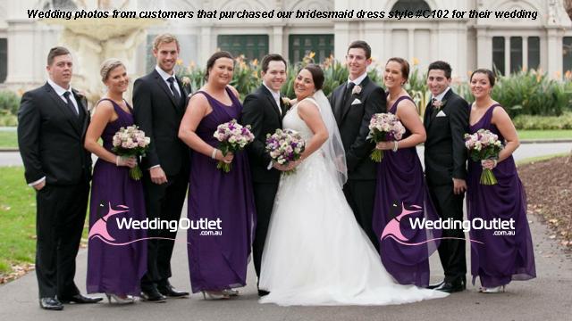 7ba047705f49 Deep Coral Bridesmaid Dresses Style #C102 - WeddingOutlet.com.au