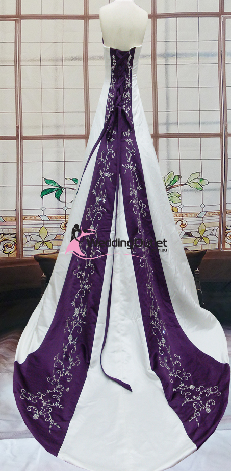 Purple Wedding Dresses.Emily Purple And White Wedding Dress Weddingoutlet Com Au