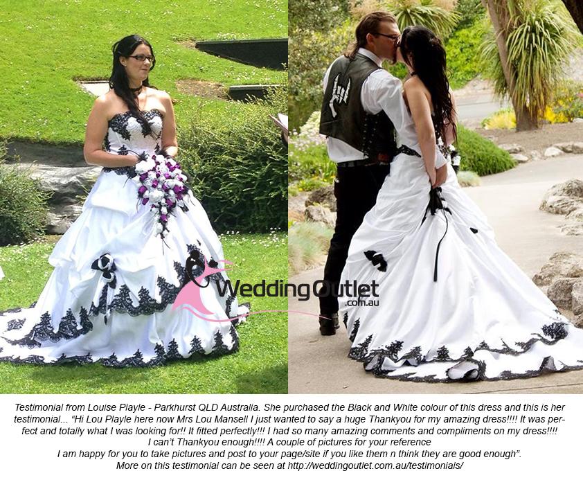 Black And White Wedding Dress.Scarlett Purple And White Wedding Dress Weddingoutlet Com Au