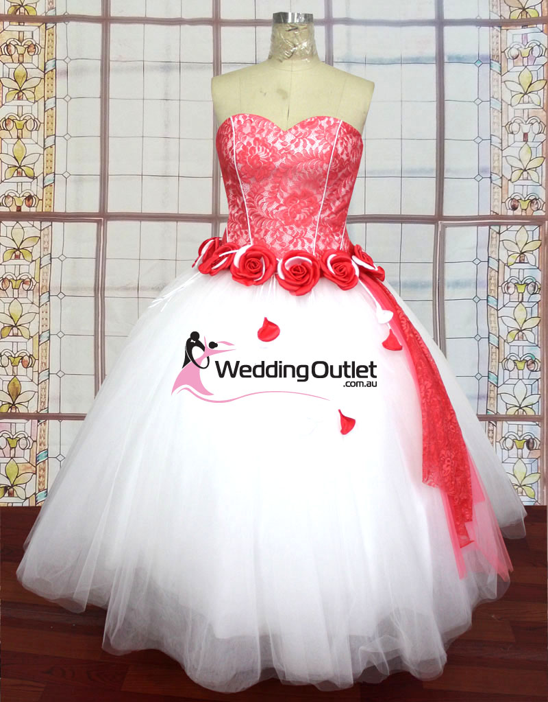 bf2199d6ff Taylor Red and White Wedding Dresses - WeddingOutlet.com.au