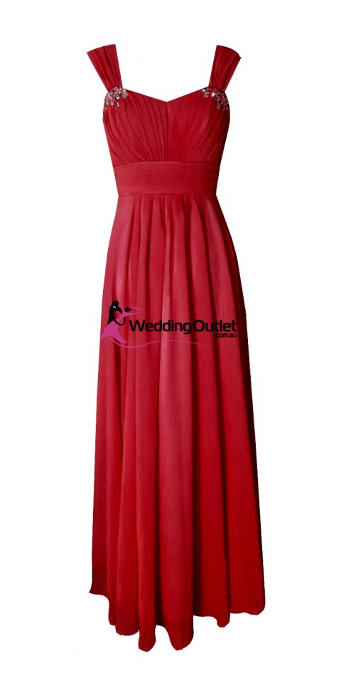 Red Bridesmaid Dresses Style #A1029