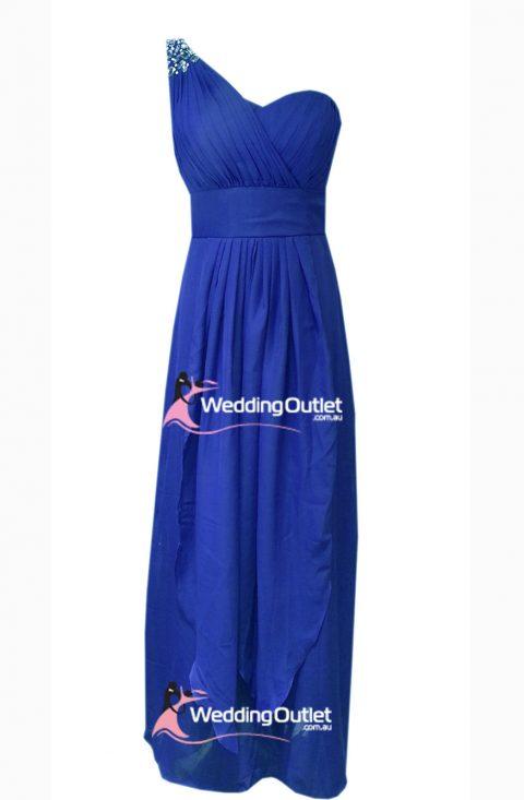 Royal Blue Maxi Bridesmaid Dresses Style #C104