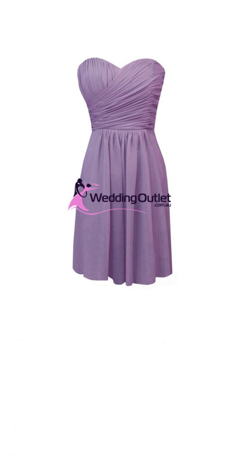 Royal Purple Short Bridesmaid Dresses Style #AB101