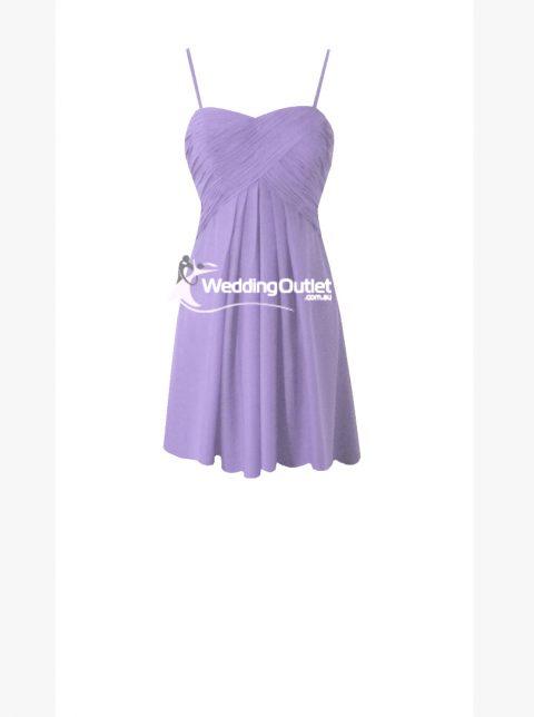 Lavender Purple Short Cocktail Bridesmaid Dresses Style #K101